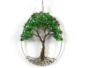 Chrome Diopside Tree of Life- Wire Tree Necklace, Firmly Rooted, Mother Earth