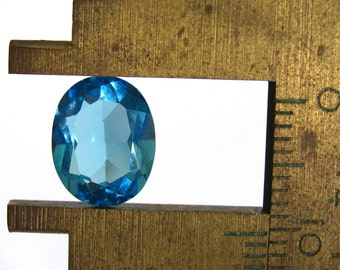 Swiss Blue Topaz Faceted Oval ~ 10X8mm Natural Blue Gemstone ~ December Birthstone
