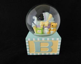 Baby Snow Globe, Joy To The World, Water Globe, Musical Snow Globe, Music Box