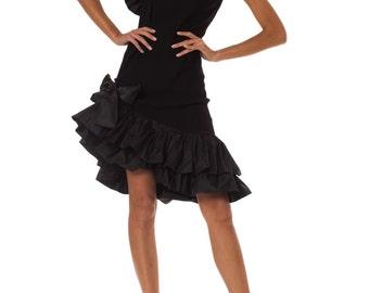 Vintage 1970s Yves Saint Laurent Ruffle Dress Size: XS