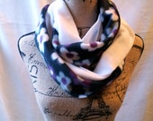 3-in-1 Fleece Infinity Scarves - floral and white