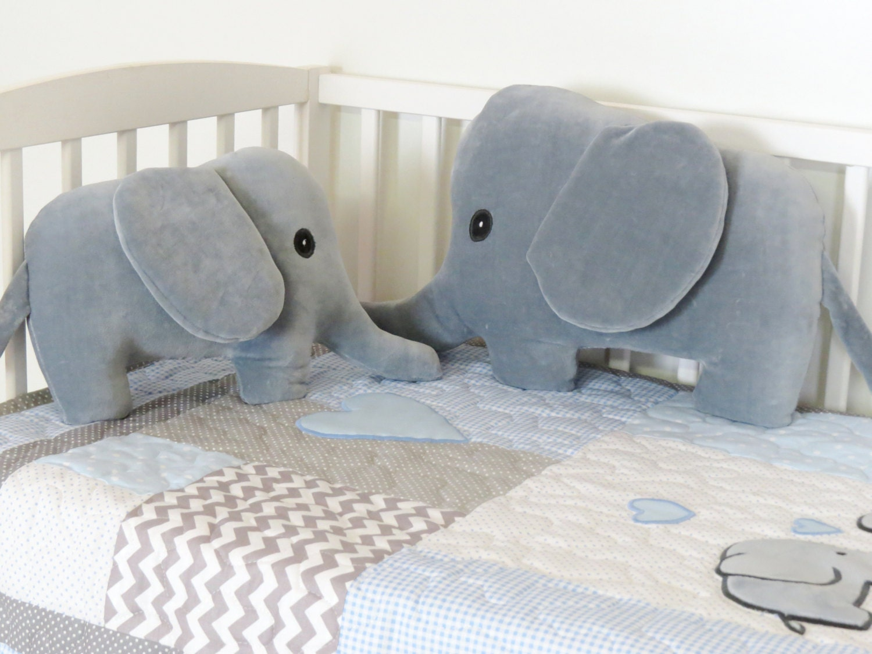 Elephant pillows gray plush jungle animal stuffed elephant baby elephant pillows gray plush jungle animal stuffed elephant baby gift negle Image collections