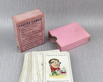 1940s Happy Families The Old Original Game Playing Card Set 48 Cards Of Grotesque Characters