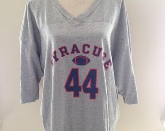 Vintage Syracuse University #44 Champion Football Jersey Tshirt
