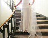 One tier white cathedral flutter cut Alencon lace edge Bridal Veil Wedding Accessory