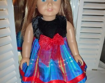 """18"""" Doll Party Dress Fits American Girl, Madame Alexander and Gotz and Our Generation Dolls"""