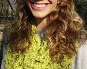 Lime Green Handmade Crochet Scarf