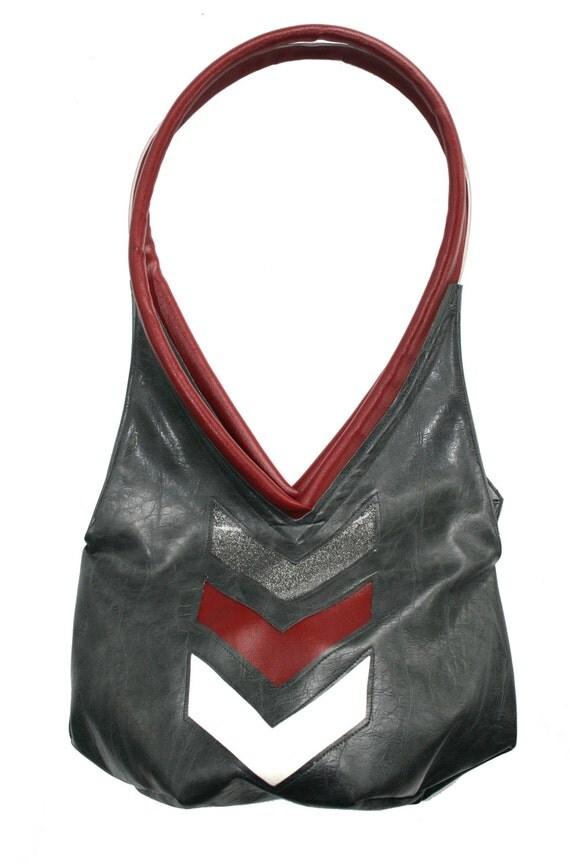 gun metal grey, distressed vinyl, chevron, sparkle vinyl, tear drop, vegan leather, shoulder bag