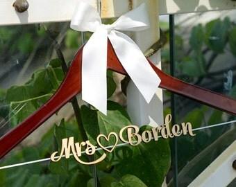 Sales, Personalized Rustic Wedding Dress Hanger, Bride Bridesmaid Wood Name Hanger, Custom Wedding Bridal Hanger,Bridal Shower Gift LL019