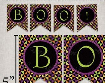 Boo Banner - DIY Halloween Bunting - Printable PDF File