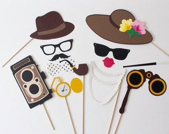 Vintage Photo Booth Props - Antique Photobooth Props for a classic, old fashioned party