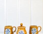 Royal Sealy Sugar Bowl and Cups