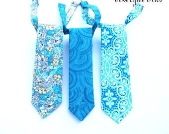 Blue Necktie, Boys Blue Neck Tie, Toddler Necktie, Wedding Ring Bearer, Baby Boy Tie, Youth Necktie, Snorkel Blue Tie, Groomsmen Necktie