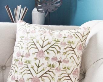 Zak & Fox Pillow Cover - Khotan Pembe - Purple Geometric Throw Pillow - Bohemian - Tribal - Purple Brown Green - Modern Home Decor
