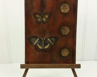 Dark Butterflies - Waiting for the Light Original Mixed Media Painting