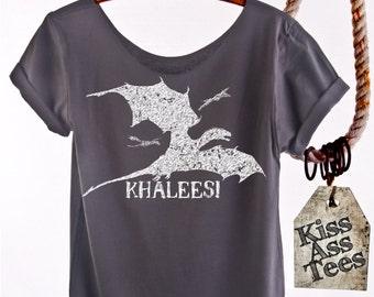 KHALEESI Game of Thrones shirt   Daenerys Targaryen Khaleesi Mother of Dragons Game of Thrones shirt. Womens Off The Shoulder. Plus Sizes