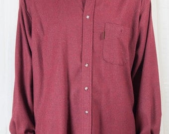 Pendleton, mens XL, brick red shirt, with elbow pads. 1990s