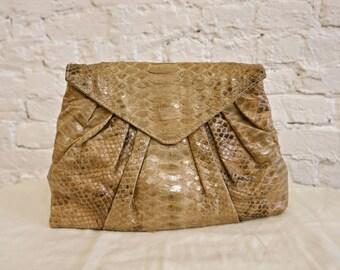 70s Snakeskin Clutch