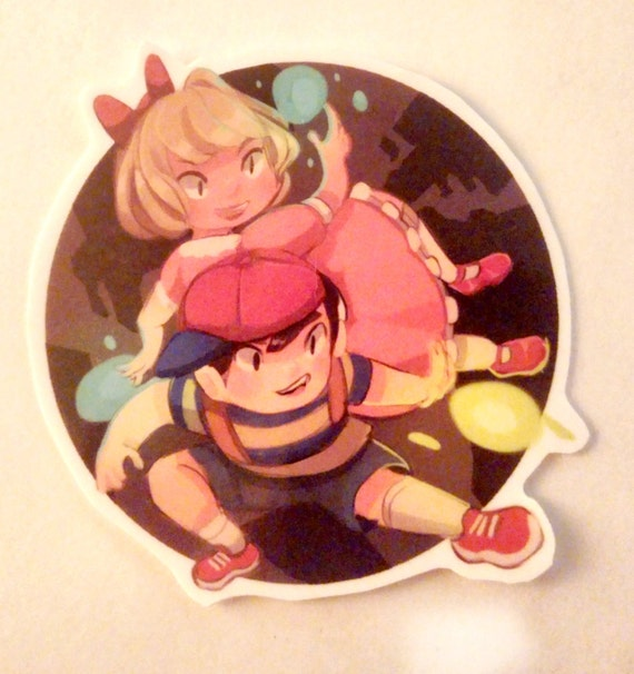 items similar to earthbound ness paula sticker on etsy