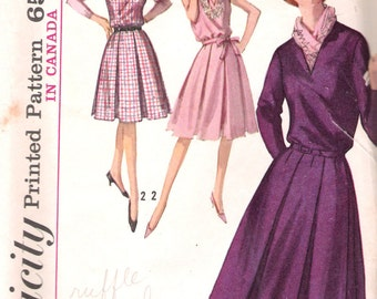Vintage 1964 Simplicity 5630 One Piece Dress or Jumper Sewing Pattern Size 12 Bust 32""