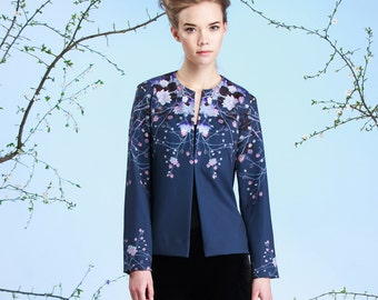 Night Water Lilies - summer jacket