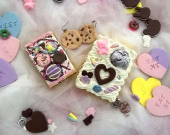 Hand Mirror Gift Set Cake Cookies Harajuku Frosting Desk Mirror #2