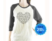 Bikes Heart Shape Love Bicycles Tshirt women tshirt baseball tshirt unisex tshirt size S M L