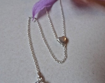 Holy Spirit lariat necklace. Sterling silver. Reversible.