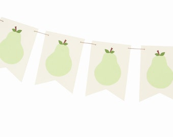 Pear Garland - Perfect Pair Shower Garland - Perfect Pear Decorations - Pear Wedding Shower Banner - Pear Party Decorations - Pear Theme