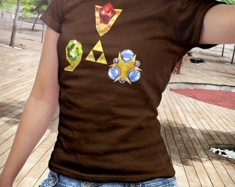 T Shirt of my Ocarina of Time Legend of Zelda Spiritual Stones design art clothing design for Men and Women by Barrett Biggers