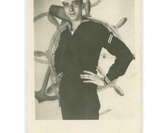 Vintage Studio/ Arcade Portrait RPPC: Young Sailor (610511)