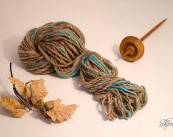 Babycamel mulberrysilk alpaca merino handspun yarn
