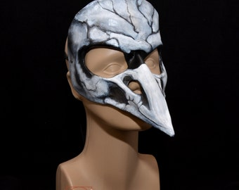 Leather Raven Bird Skull Skeksis Inspired Masquerade Cosplay Mask