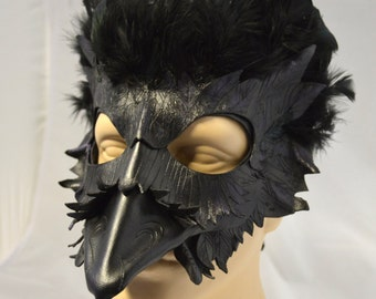Mormont's Raven Leather Cosplay Mask, Game of Thrones Inspired