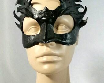 Black Leather Dragon Hatchling Game of Thrones House Targaryen Inspired Cosplay Mask