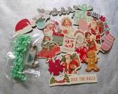 Christmas DIE CUTS, Prima Sweet Peppermint, Chipboard Die Cuts, Christmas Chipboard Die Cuts, Vintage Christmas Die Cuts, Embellishments