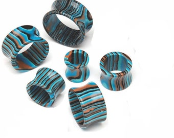 Blue Striped Agate Stone Tunnels