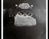 Unusual VW race car. BW Photo of Iconic Logo on Formula 1 car. NASCAR.  13 x 10. Ready for Framing.
