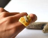 Amber Ring, Amber and Silver, Amber Jewelry, Natural Amber Ring