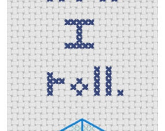 D20 cross stitch pattern: This Is How I Roll