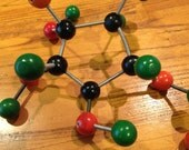 Vintage Molecular Model - Organic Chemistry - Retro wood and spings
