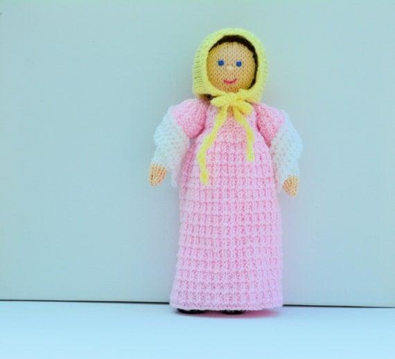 Georgian Doll, Doll Knitting Patterns, Knitted Doll, Georgian Dress, Toy Knitting Pattern, Knitting Pattern, Knit Doll, Jane Austen, Regency