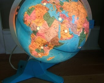 Vintage Fisher Price Globe View Finder Globe Light