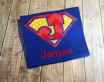 Personalized Superhero Shirt - Superman Shirt - Boys Birthday Shirt - Superhero's Birthday - Birthday Shirt for Boys - Trendy Birthday Shirt