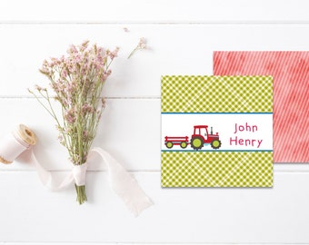 Kids Calling Cards | Kids Gift Tags | Mommy Calling Cards | Playdate Cards | Tractor Favor Tags | Gift Enclosure Cards
