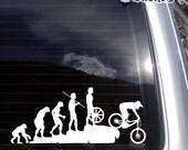 Mountain Bike Vinyl Decal fits car, truck, apple or pc laptop, window sticker K516