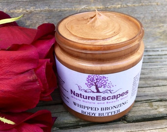 Gift for Her, Bronzing Whipped Body Butter, Natural Self Tanning Lotion