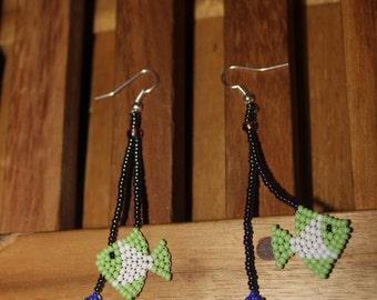 Huichol Beaded Fish Earrings BB-2