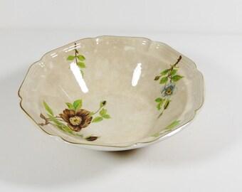 Vintage Sangostone 3463 Apple Blossom Serving Bowl, Vintage Bowl Made in Korea