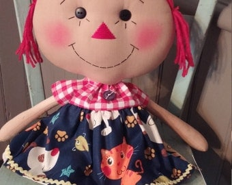 Cats and Dogs raggedy ann doll